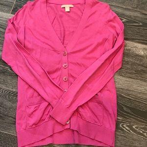 Women's Banana Republic Pink Cardigan Size Medium